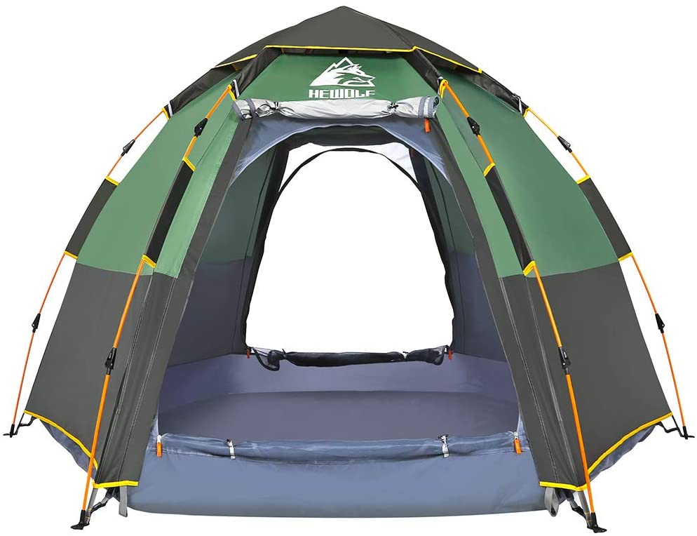 Hewolf Camping 2-4 Person Instant Pop Up Tent