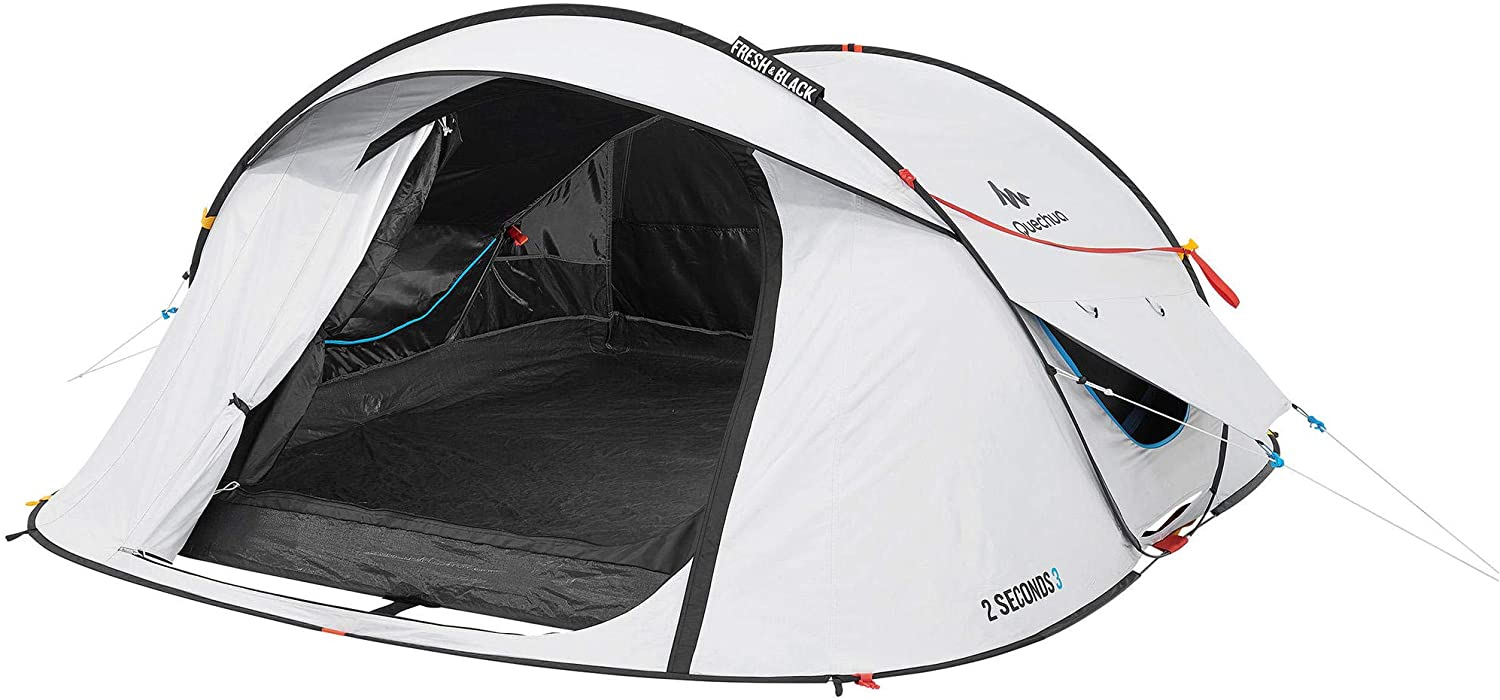 Quechua Waterproof Easy Set Up And Fold Pop Up Camping Tent