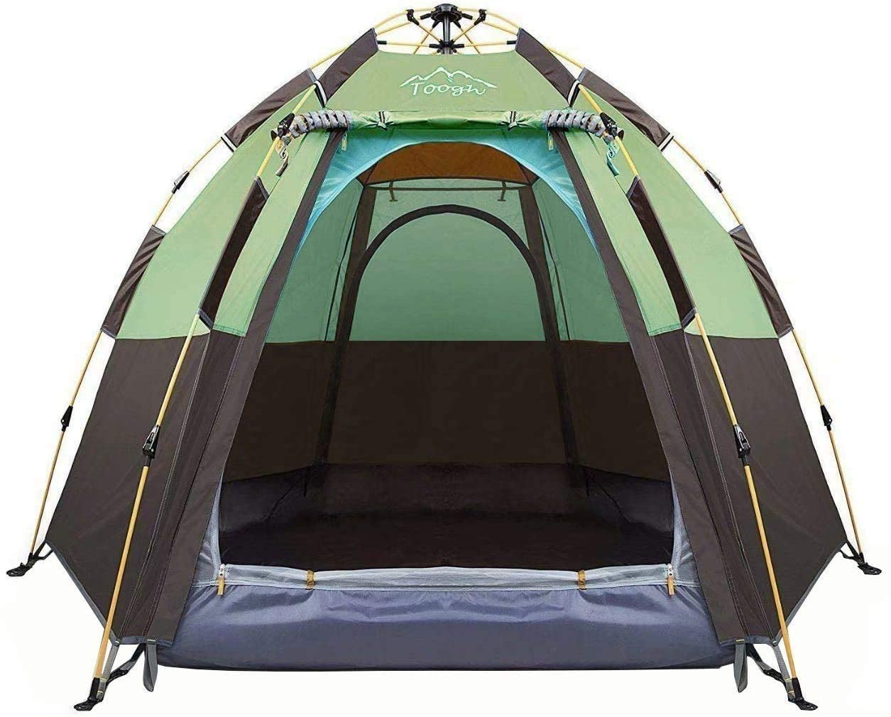 Toogh 3-4 Person Backpacking Hexagon Camping Tent