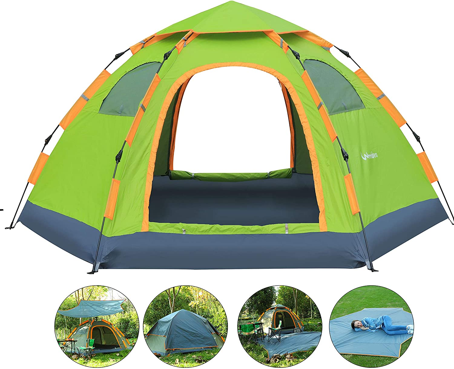 Wnnideo Instant Automatic Pop Up Family Tent